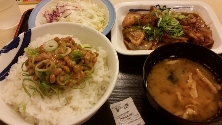 【8/27】松屋ってゆう納豆ご飯専門店に来ました@柏