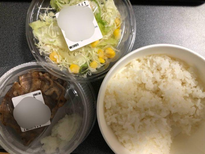 松屋でカルビ焼肉定食買ってきたで!!!!!!!!!!!!