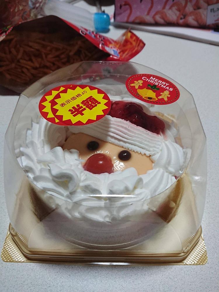 【画像有】ワイ、半額ケーキを買う