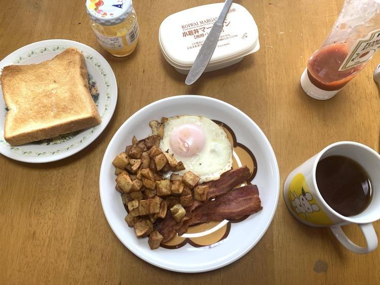 【画像】ワイが作ったアチアチお洒落朝食
