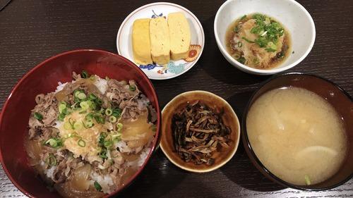 【画像】お前ら!牛丼定食できたよ!!!!!!!