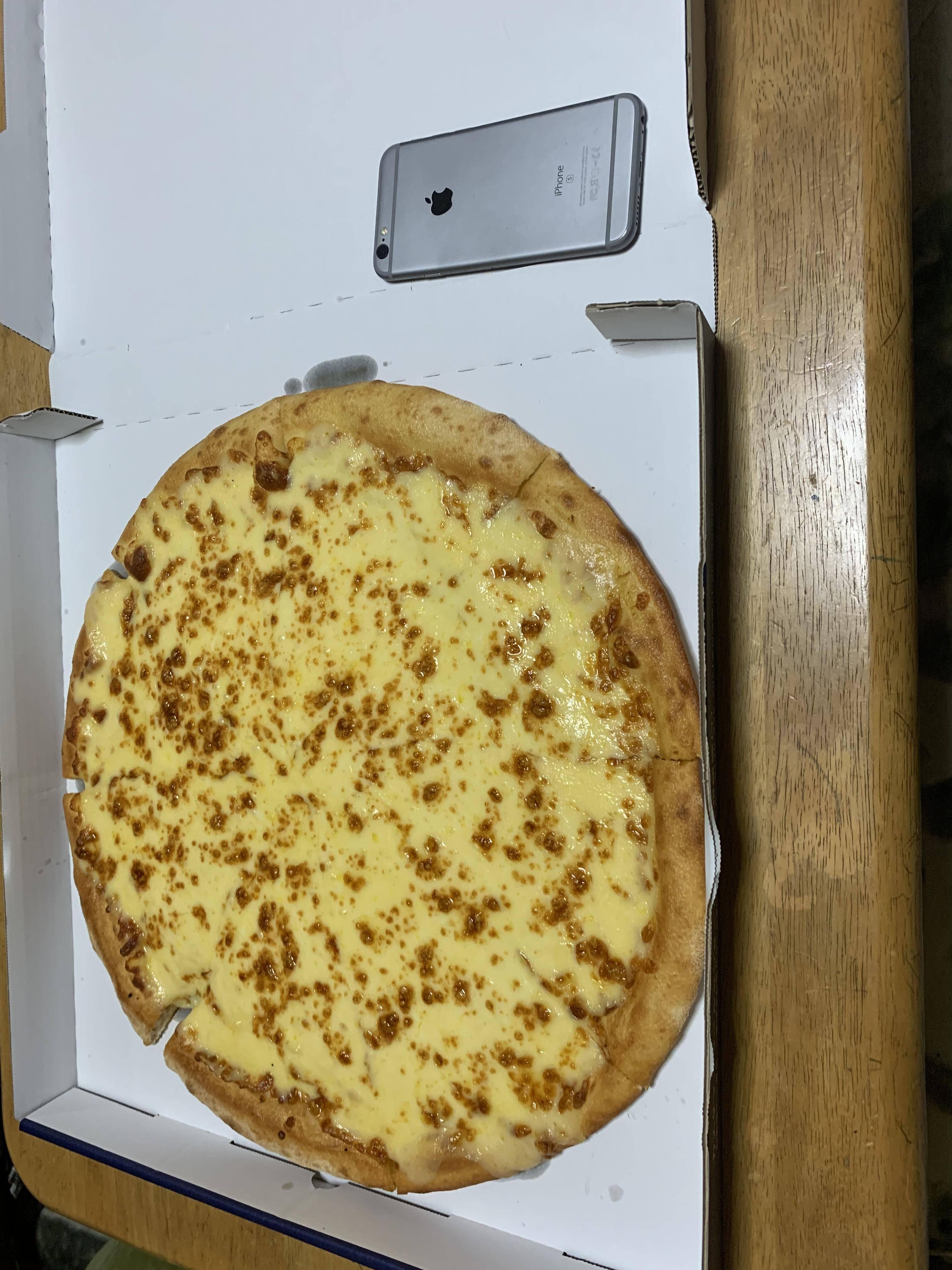 【画像】ドミノピザ買ってきた(ニューヨーカー1キロウルトラチーズ)