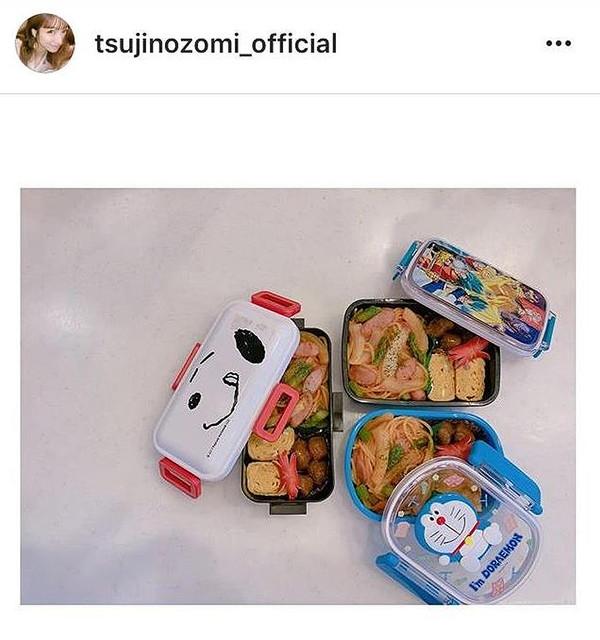 モーニング娘。OG 辻希美さん、夏休みも連日子供の弁当作り「昊空のリクエストでナポリタンに」写真公開