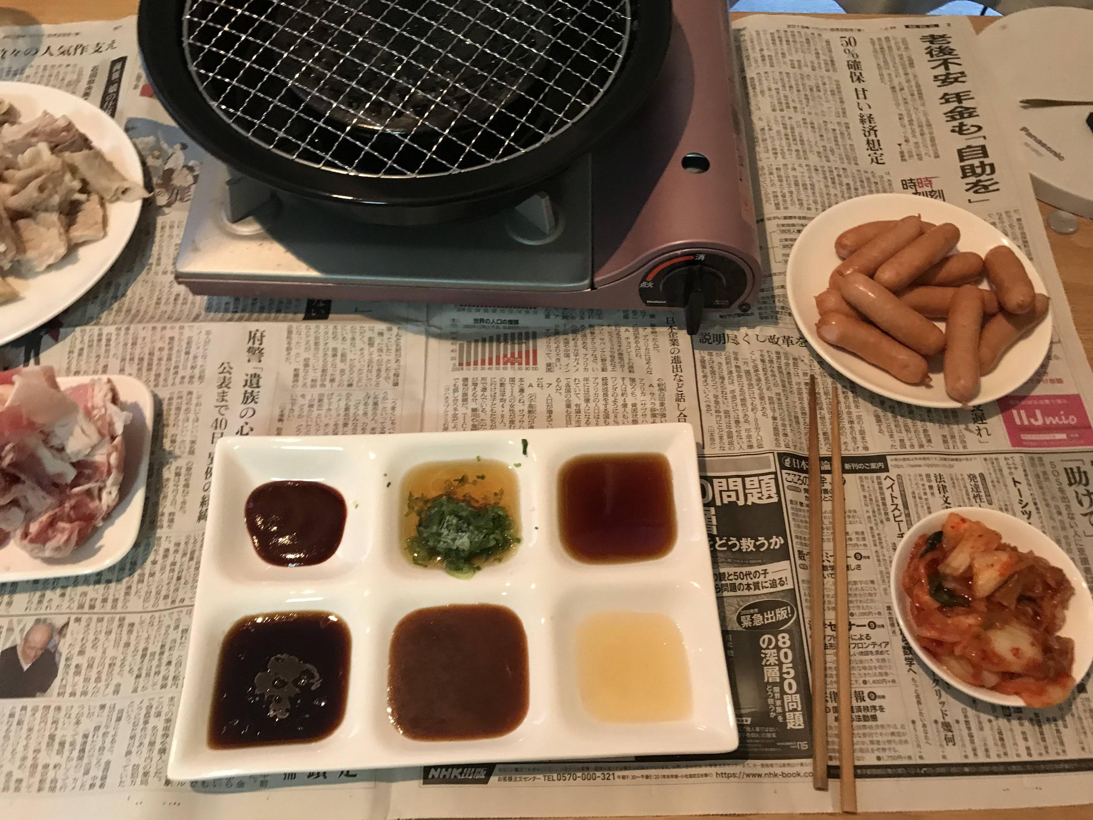 【画像あり】貧乏人、肉を焼くwwww