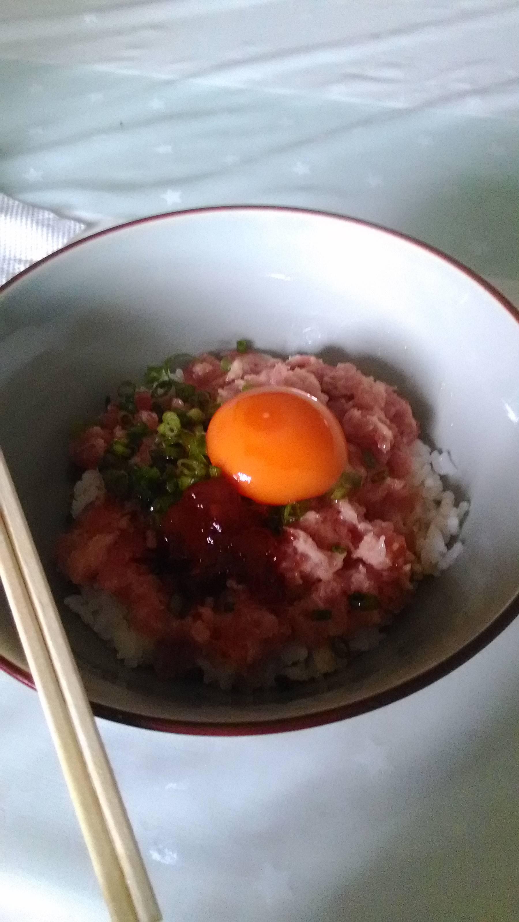 【画像】ハンチョウの豆板醤ネギトロ丼作ったwww