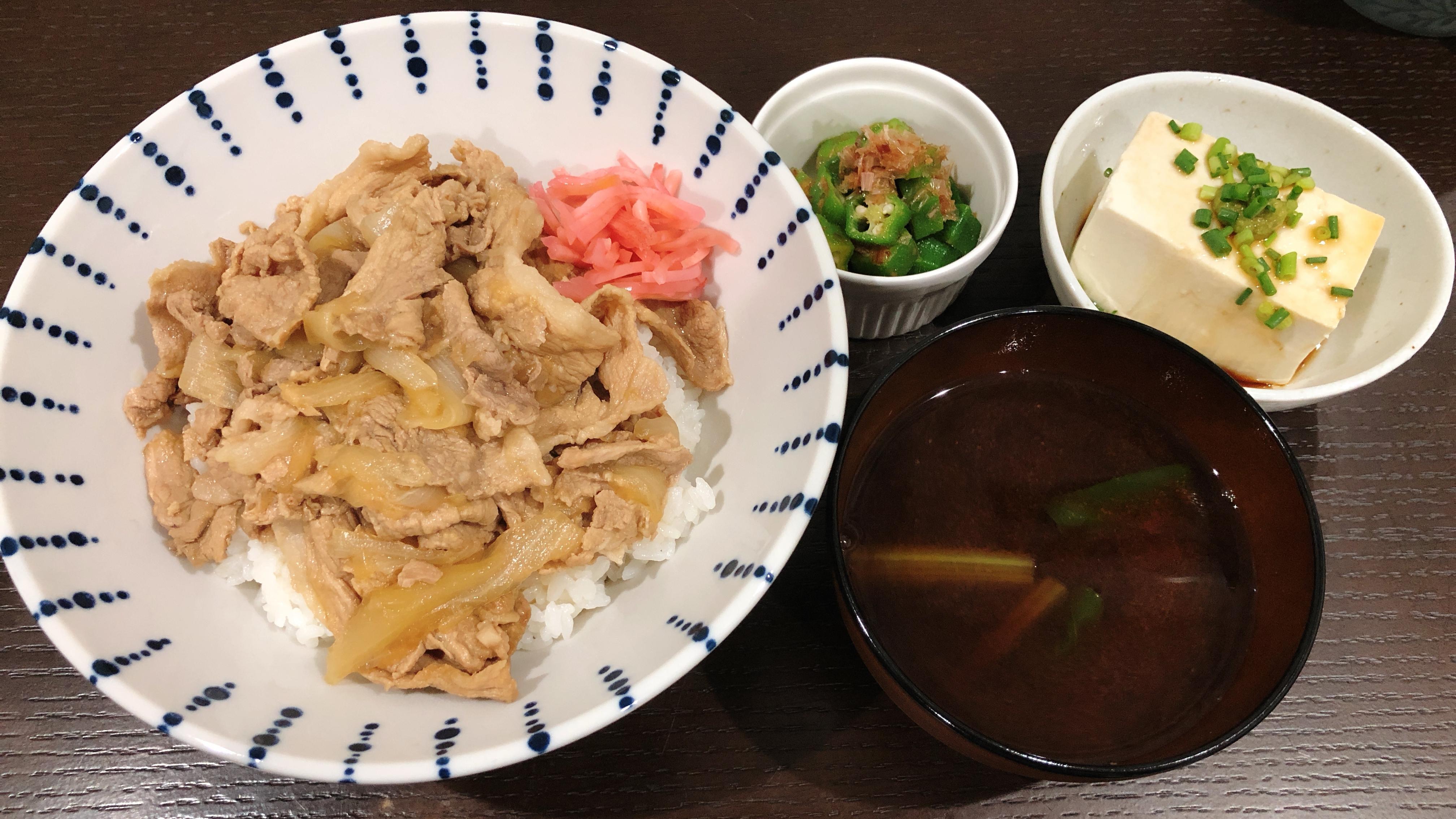 【画像】うまそうな豚丼作ったよ(  ´・ω・`  )