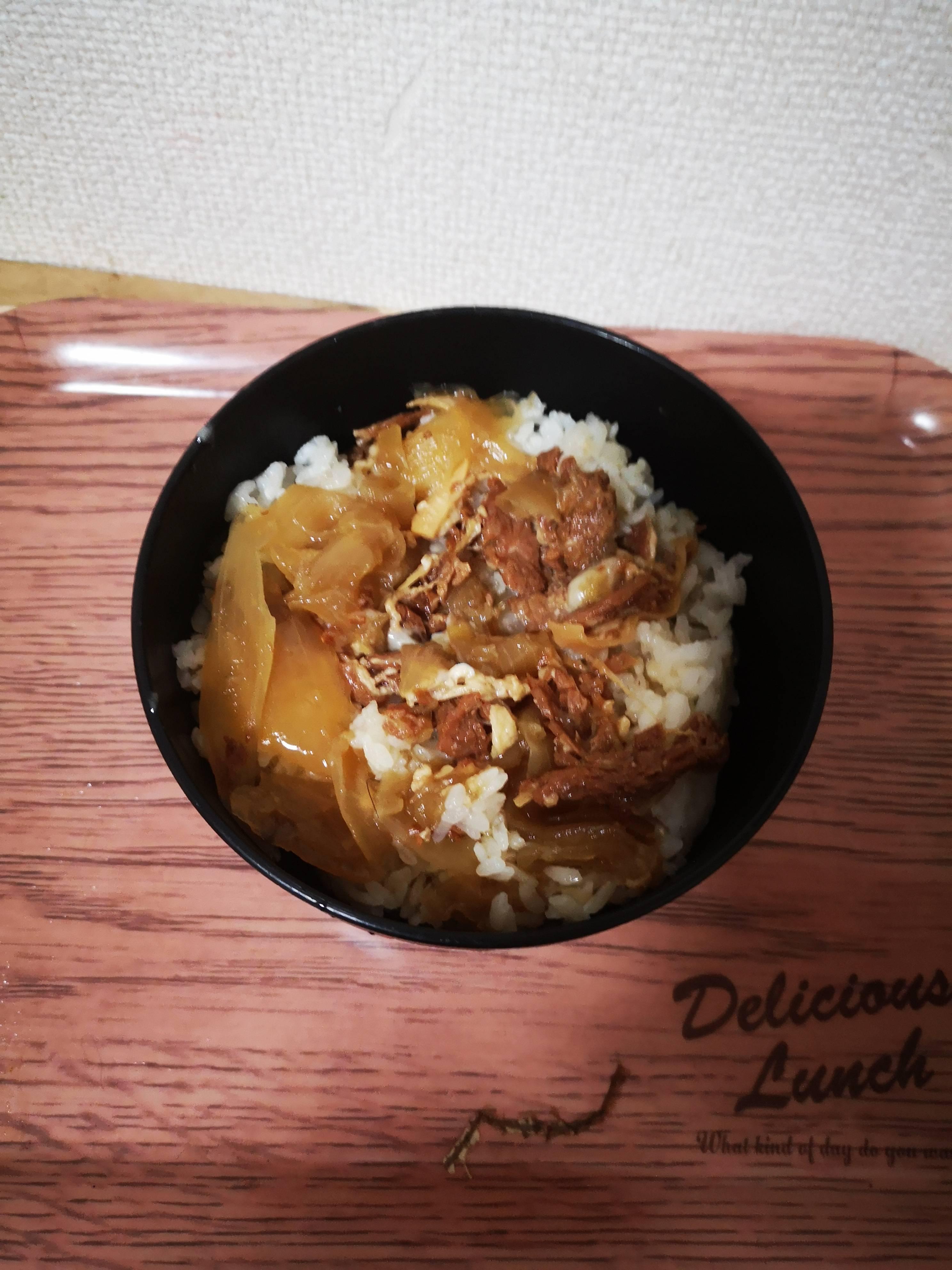 【画像】133円のレトルト牛丼の具買った結果