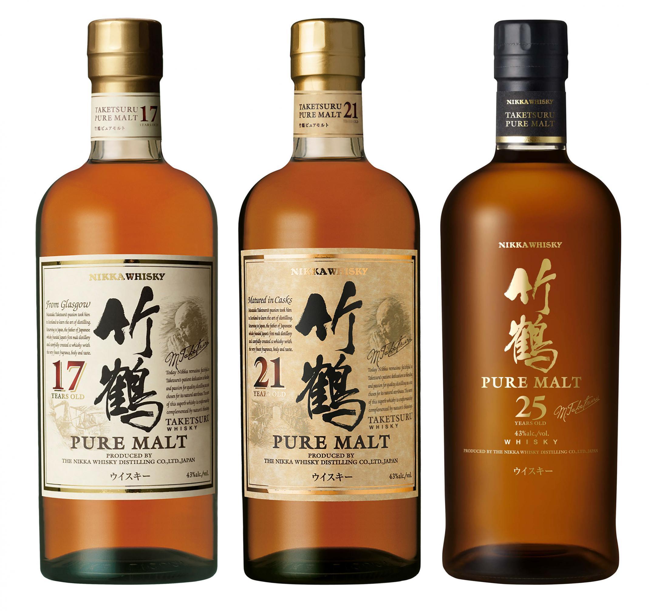 ニッカウヰスキー「竹鶴」3種類販売終了へ 原酒が足りないため