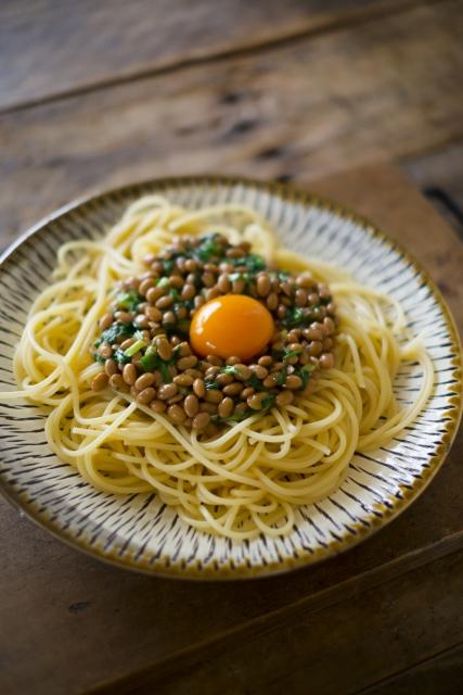 納豆スパゲティーって納豆かけご飯よりうまいと思うわ