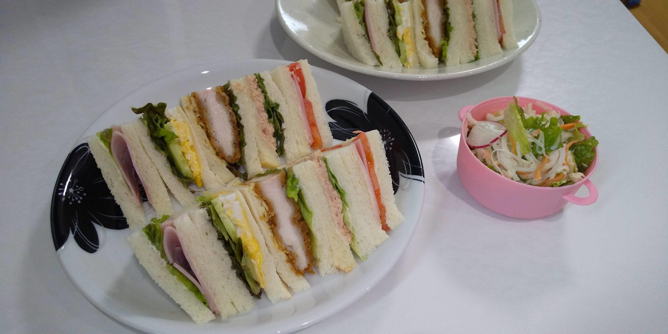 【画像】サンドイッチ作ってみた