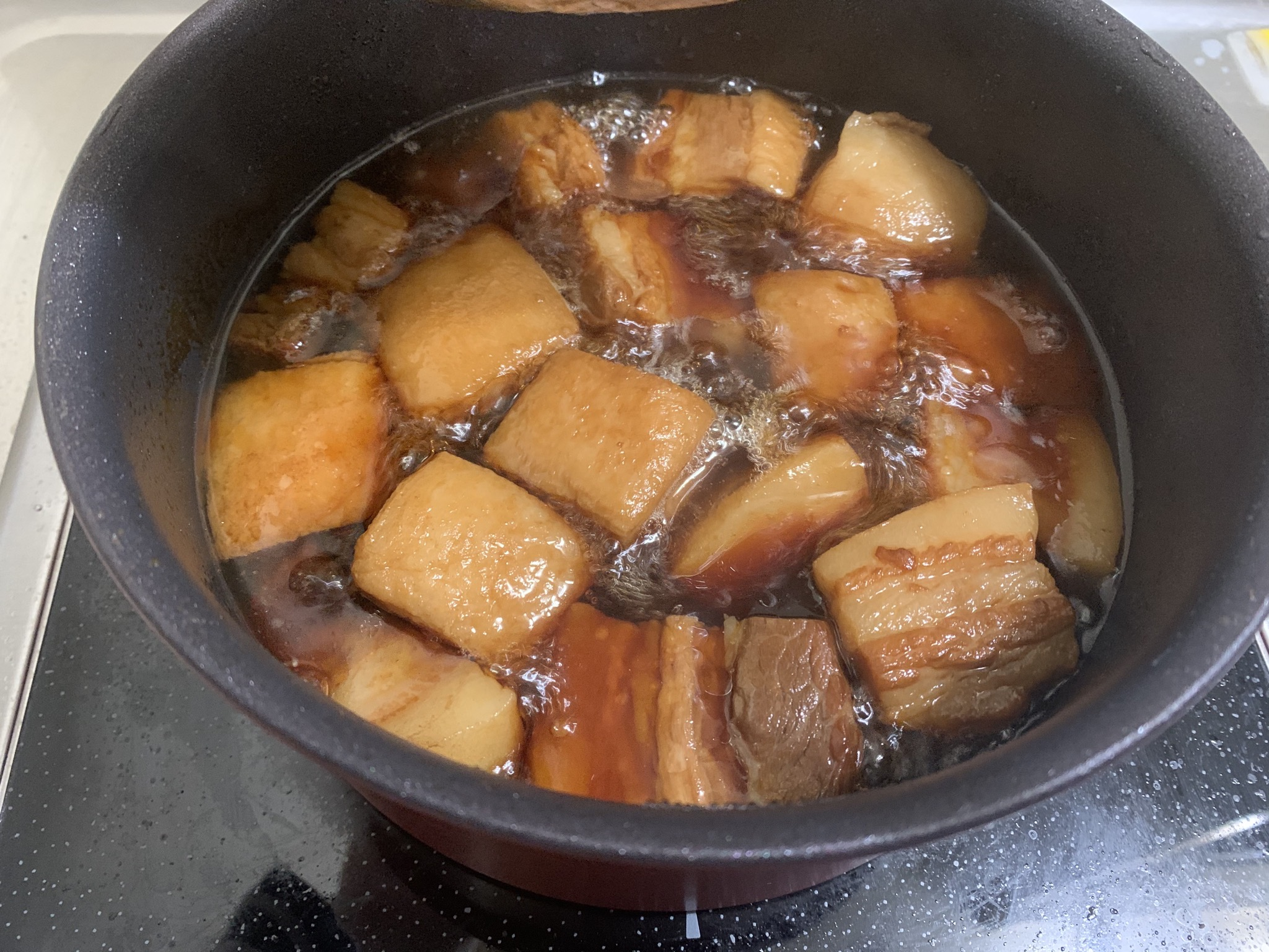 【画像】豚の角煮を作ったんやけど