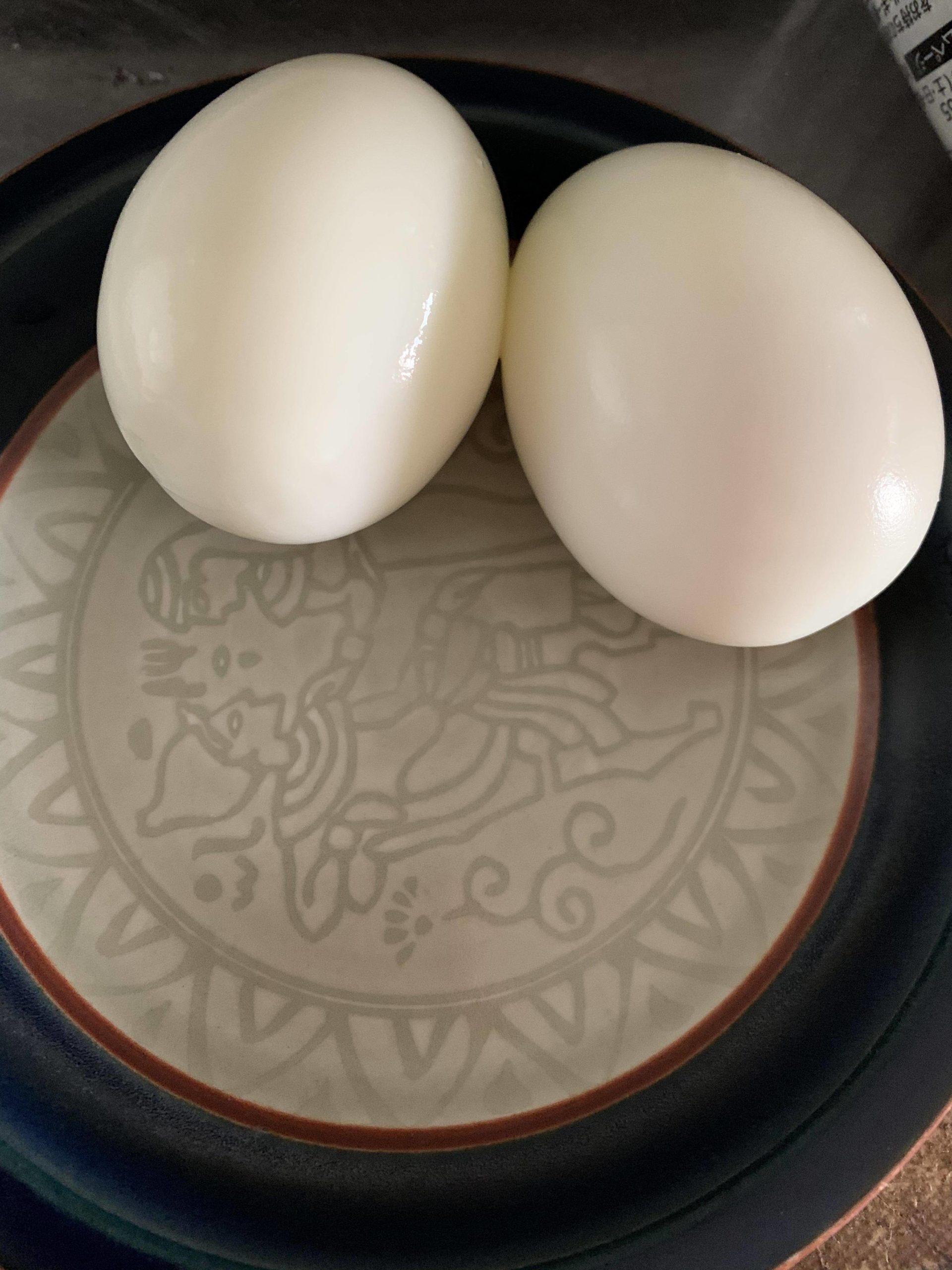 【画像】暇だから茹で卵作った