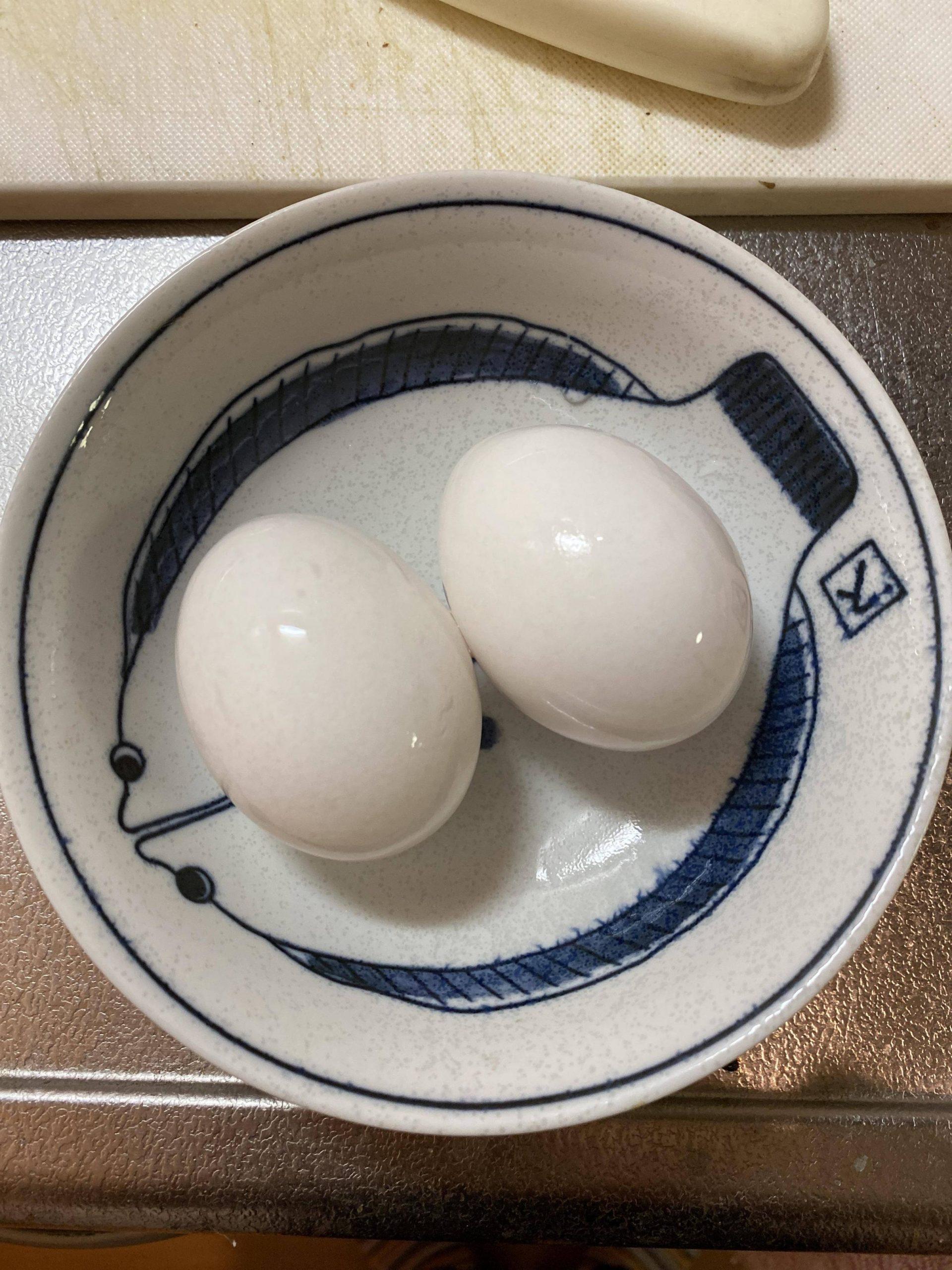 【画像】味付け半熟煮玉子作る