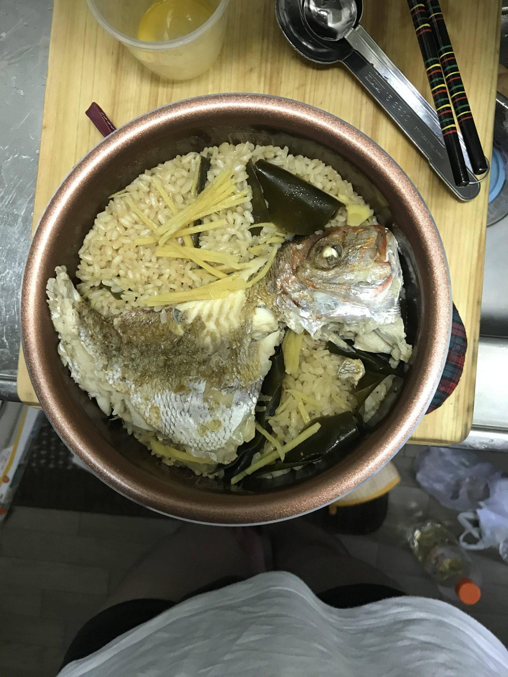 【画像】鯛の炊き込みご飯作ったちゃwwwwwwwwwwwwwwwww