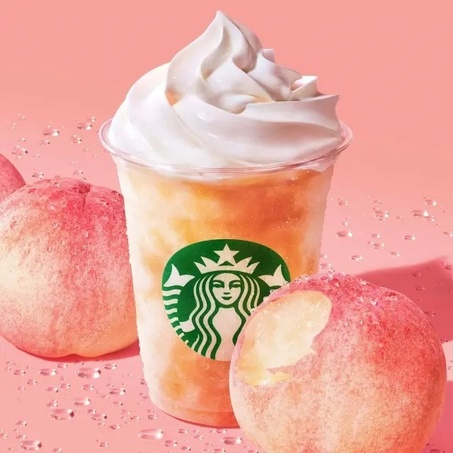 【朗報】スタバの新作の桃のやつ、美味い【ピーチ フラペチーノ】