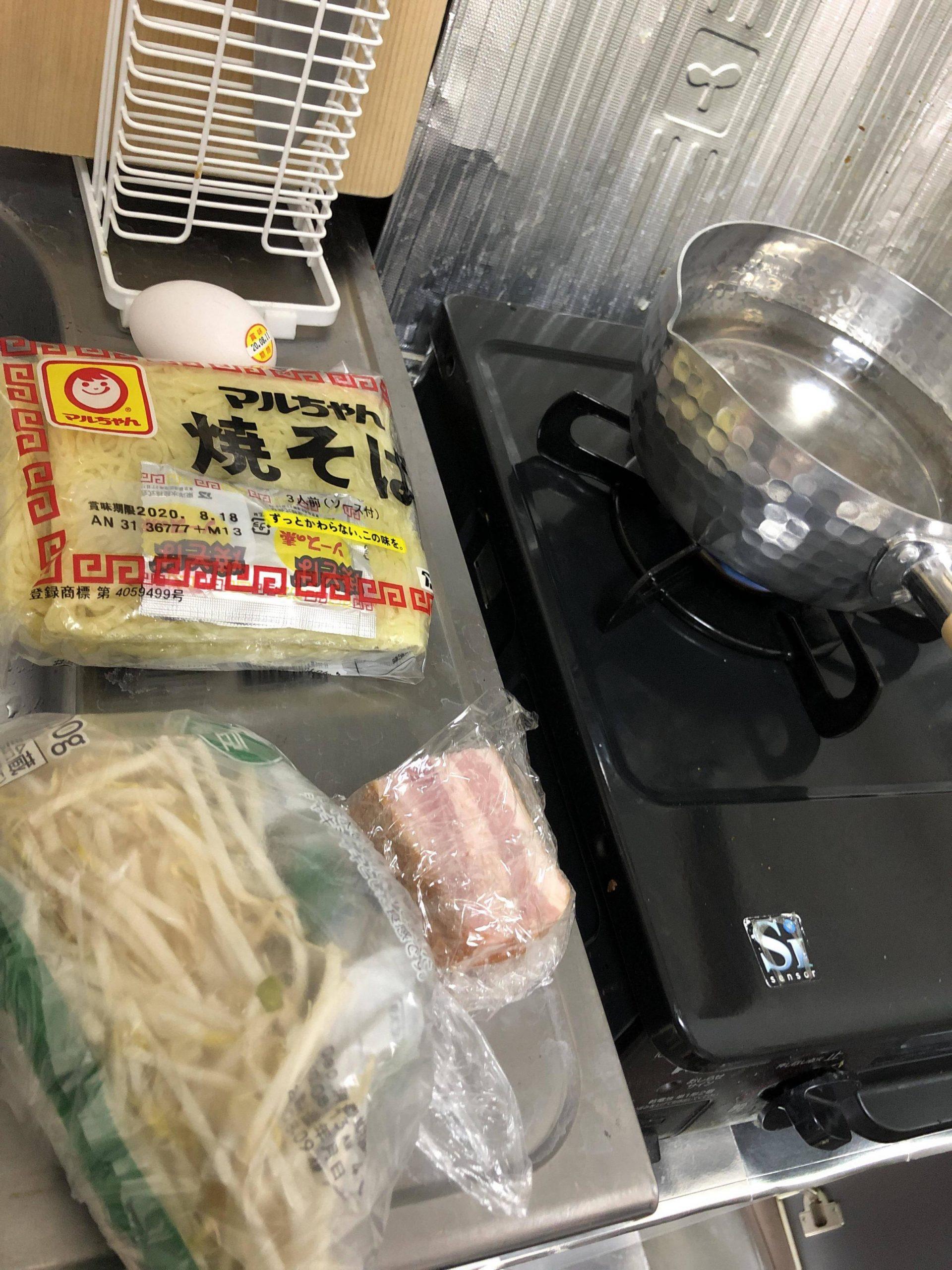 【画像】焼きそばの麺で冷やし中華作る