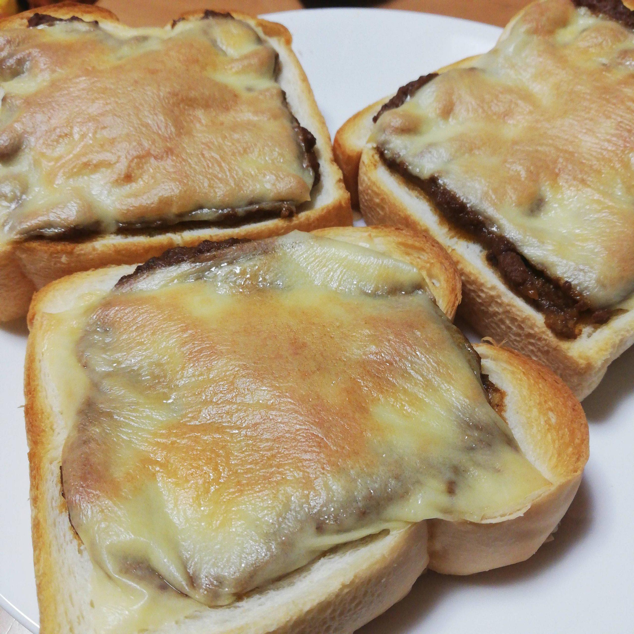 【画像】カレートースト、焼ける