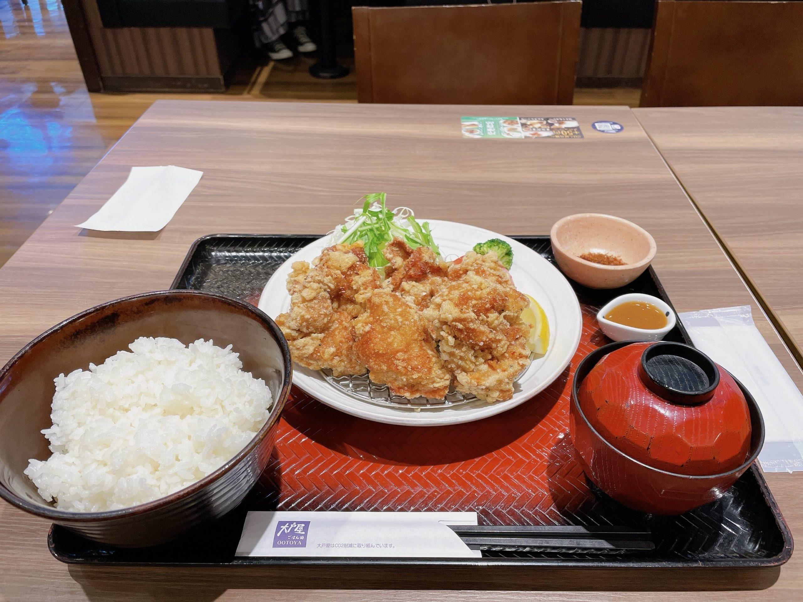 【画像あり】大戸屋の唐揚げ定食wwww