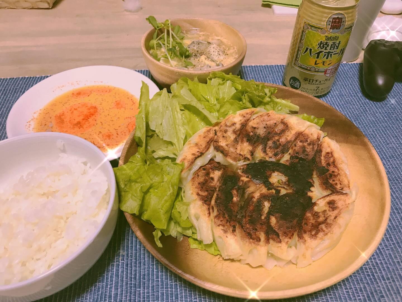 【画像】ワイガチニート将(33歳)が作った手作り餃子定食にいくら払える?