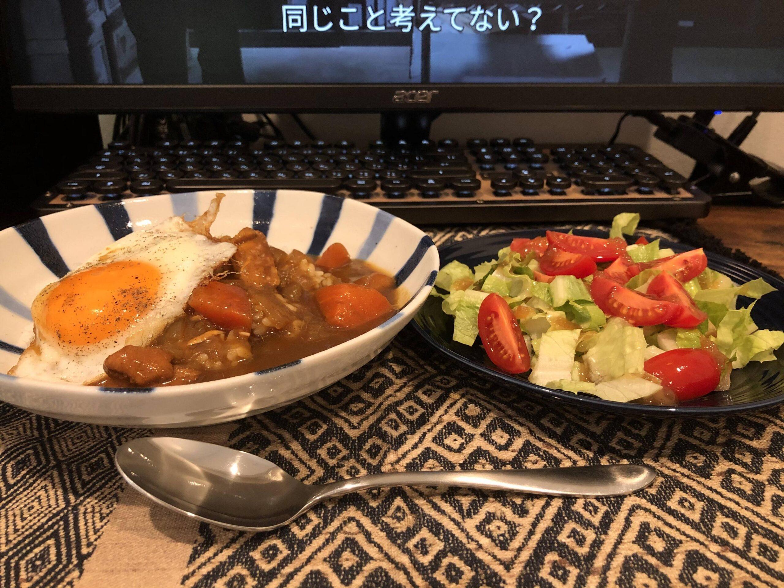 【画像】ワイのお昼ごはん手作りカレー