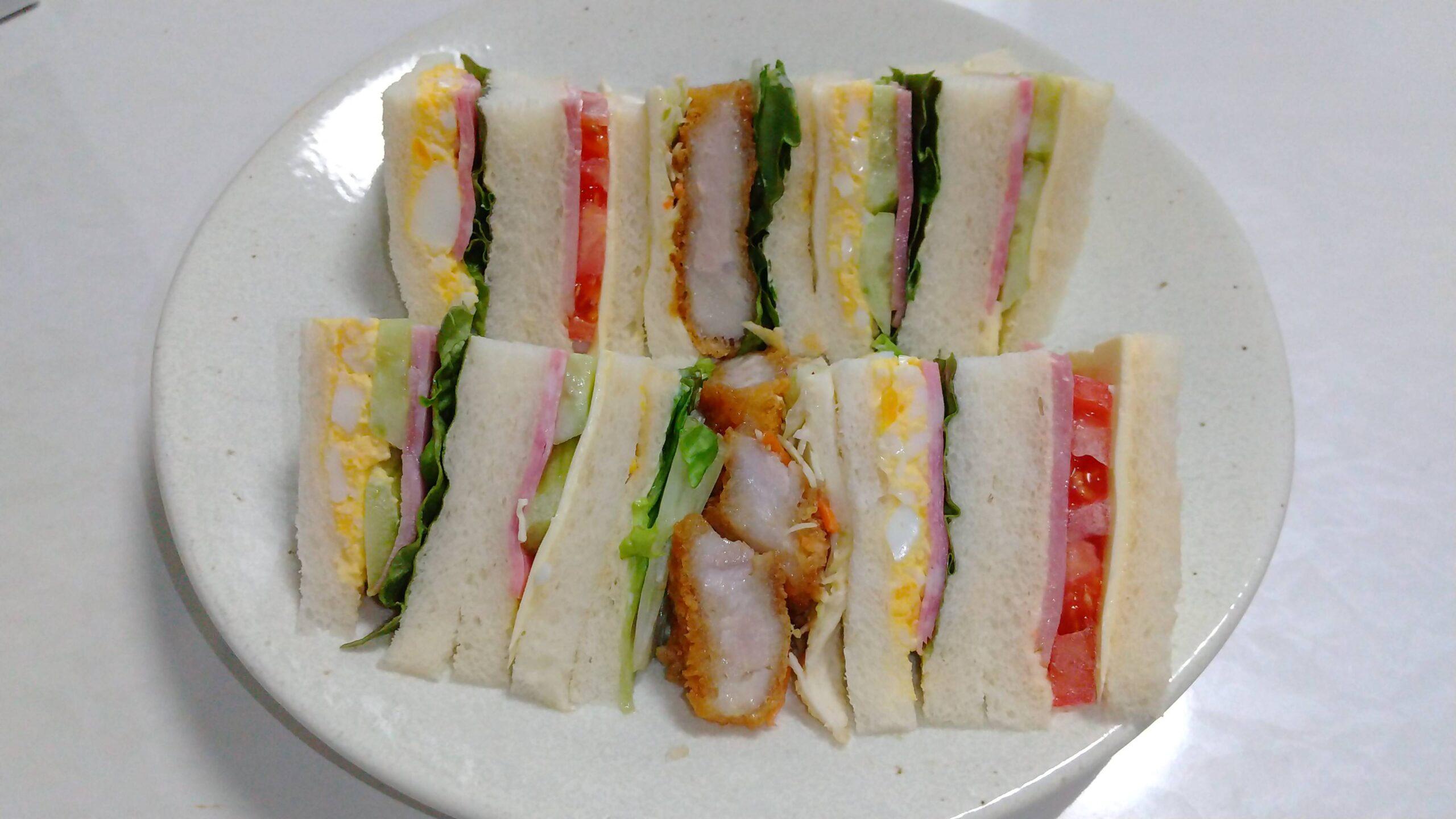 【画像】サンドイッチ作った