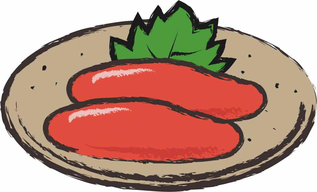 明太子「米にあいます。パンにあいます。パスタにあいます。うどんにあいます。」
