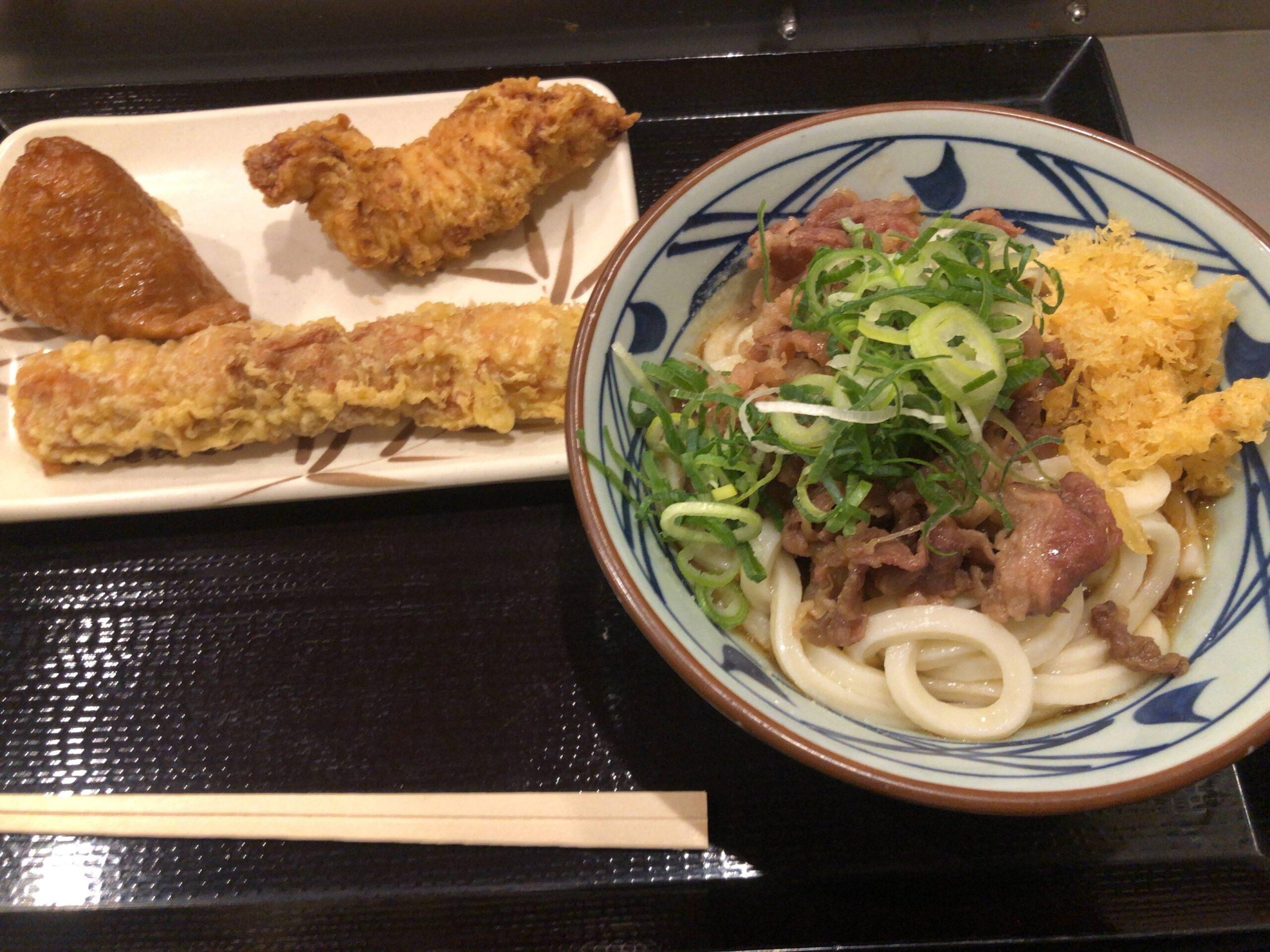 丸亀製麺に冷ぶっかけ肉うどん食べにきたで!!!!!!!!!!