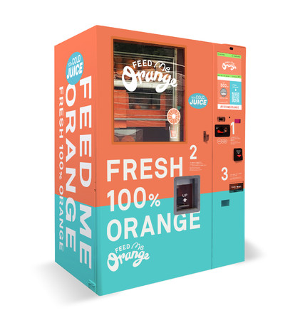 イギリスの最強オレンジジュース自販機、ついに日本上陸