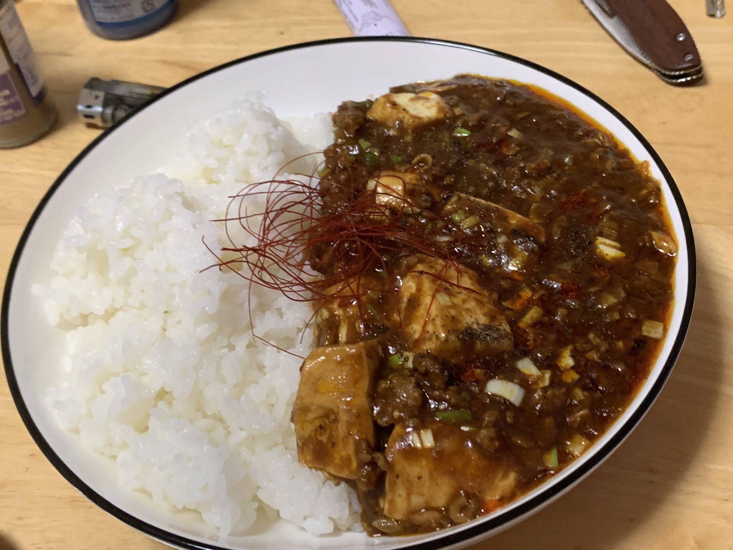 【画像有】素なしで麻婆豆腐作ったぞ
